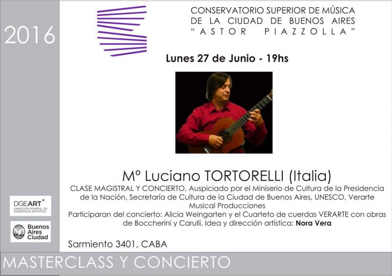Concert Master Class Conservatorio Piazzolla Buenos Aires